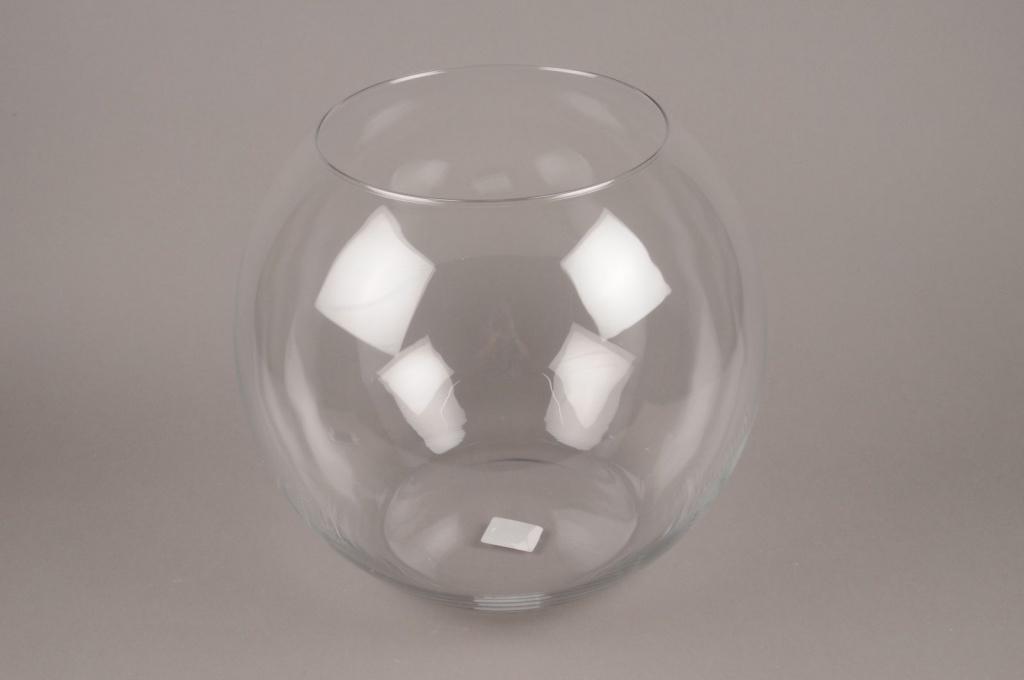 A091PQ Vase glass sphere D35cm H33.5cm