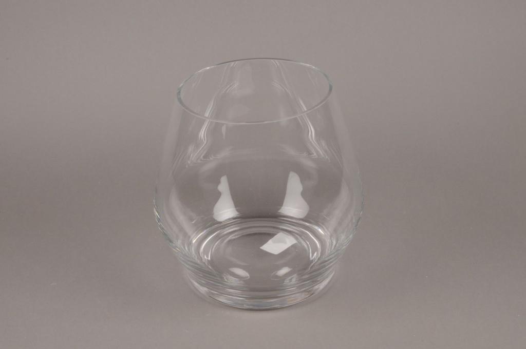 A098PQ Vase goutte verre D25cm H25cm