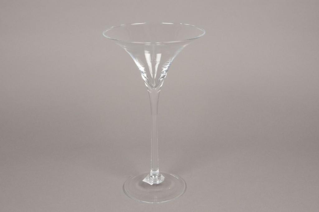 B450w3 Vase martini en verre D17cm H30cm