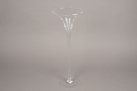 B448W3 Vase martini en verre D17cm H50cm