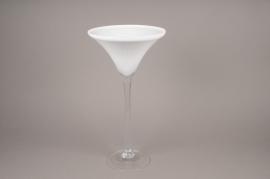 A002NH Vase martini verre blanc D26cm H50cm