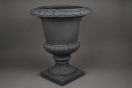 A040XY Vase Médicis en fibre gris D38cm H56cm