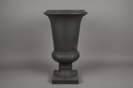 A008XY Vase Médicis en fibre gris D48cm H78m