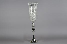 Vase sur pied avec diamants D20cm H83cm
