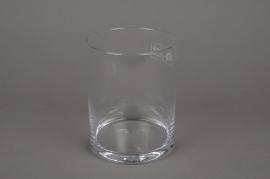 A011I0 Vase verre cylindre D11.5cm H15cm