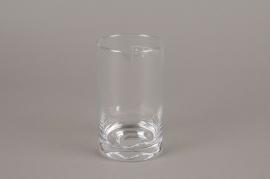 A014I0 Vase verre cylindre D8.5cm H15cm