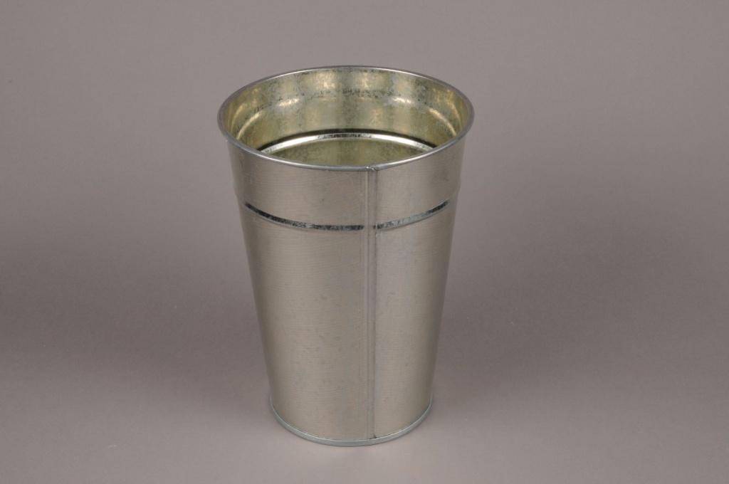 Vase zinc naturel