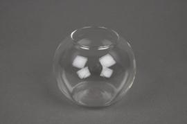 A044K9 Vases boule en verre D10cm H8cm