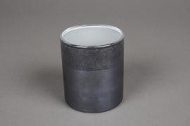 A020K0 Verrine en verre gris D7.5cm H8.5cm