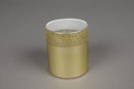 A022K0 Verrine en verre or D6.5cm H7.5cm