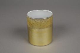 A018K0 Verrine en verre or D7.5cm H8.5cm