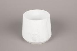 A249HX Cache-pot en céramique blanc D17cm H14cm