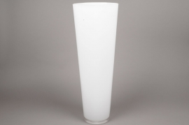 A018I0 white conical glass vase D22cm H70cm
