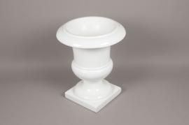 A007W7 White fiberglass medici D38cm H46cm