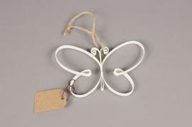 A011AK White metal butterfly H11cm