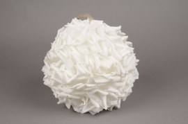 x052dh White rose petal ball D28 cm