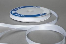 A066UN White satin ribbon 12mm x 100m