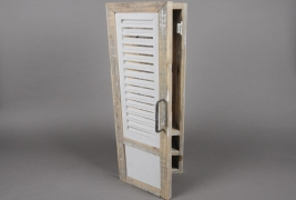 A005AO White wooden chest for keys H67cm
