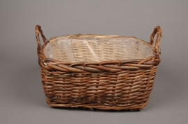 A020J3 Wicker basket 28 x 28cm H15cm