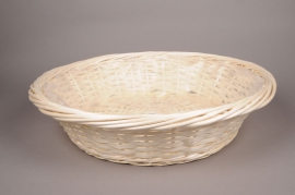 A075MZ Wicker bowl with rim D60cm H16cm