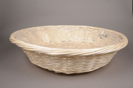 A076MZ Wicker bowl with rim D70cm H17cm