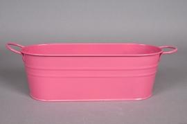 Window-box zinc fuchsia pink 27x11x9cm
