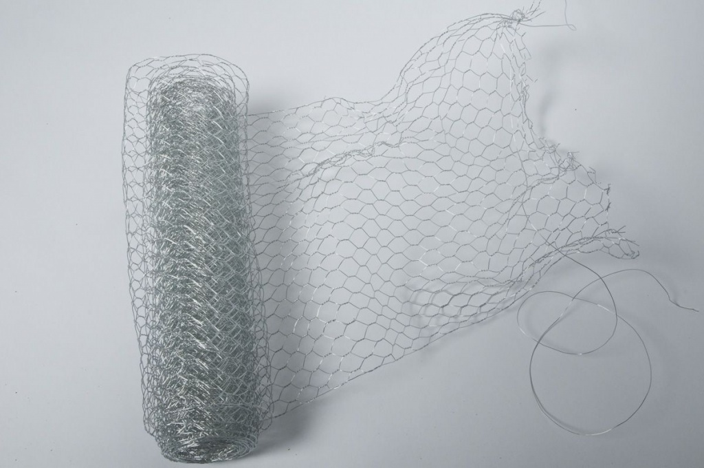 Wire mesh roll decoration silver 30cmx3m