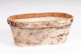 Wood bark window-box 30cm