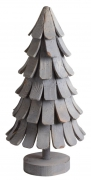 X000VJ Wooden christmas tree patinated D40 H92cm
