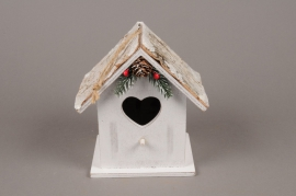 X132RX Wooden house for bird 12x10cm H16cm