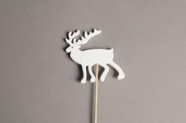 X000PH Set of 10 wooden reindeer picks H29cm
