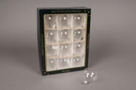 X000T1 Boite de 12 boules transparent D6cm