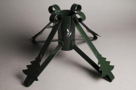 X000Y3 Pied de sapin métal vert D9cm