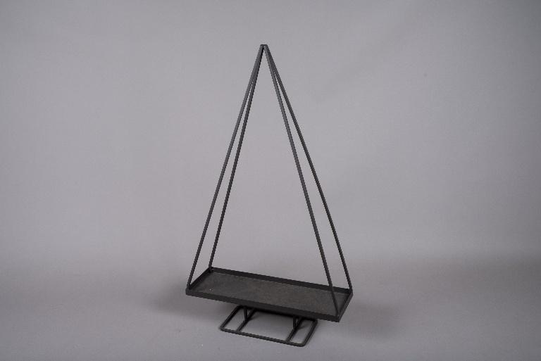 X000ZV Sapin en métal marron H89cm