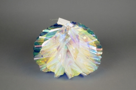 X001B9 Set of 2 iridescent ball ornament D30cm