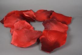 x001fz Guirlande de pétale de rose rouge D22cm H150cm