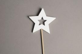 X001PH Sachet 10 pics étoile bois H29cm