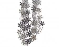 X002KI Silver plastic snowflakes garland D20mm L270cm