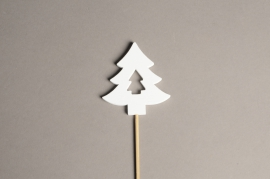 X002PH Set of 10 wooden christmas tree picks H31cm