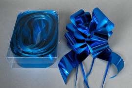 X002ZR Boîte de 20 noeuds auto bleus L70mm