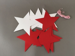 X003RE Pack of 12 paper star D15cm