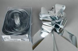 X003ZR Box of 20 silver automatic knots L70mm