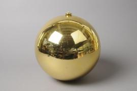 X003ZY Boule plastique or D15cm