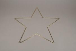 X004L7 Gold metal star ornament D50cm