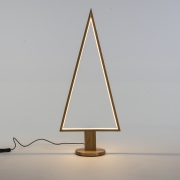 X004R5 Sapin en bois naturel lumineux LED H75cm