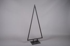 X004ZV Brown metal Christmas tree H160cm