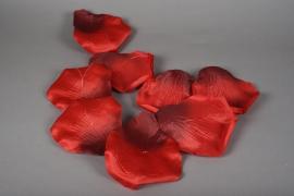 x005fz Guirlande de pétale de rose rouge D16cm H150cm