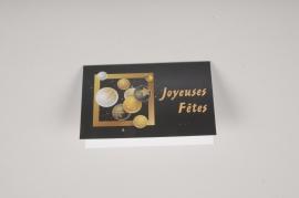 X005MQ Paquet de 10 cartes Joyeuses Fêtes