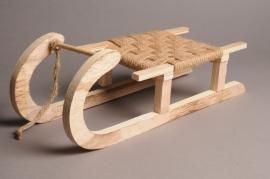 X006GM Wooden sledge 40cm x 14.5cm H14cm