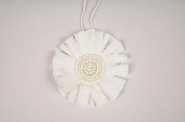 X006VB White Christmas decoration D10cm